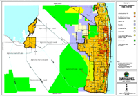 Map Of Palm Beach County Florida.Agriculture