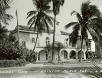 The Boynton Beach Women's Club, opened in 1926