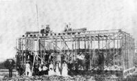 The new Dade County Courthouse under construction in Juno, 1889