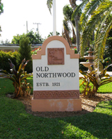 district sign for Old Northwood, formerly Mangonia