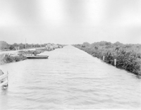 A view of the West Palm Beach Canal near Pahokee.