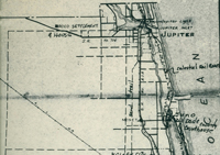 A map showing the location of Rood along Indiantown Road in Jupiter.