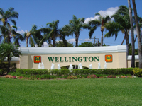 One of the Village of Wellington signs