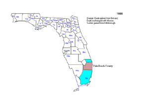 1866  Palm Beach County is part of Dade County