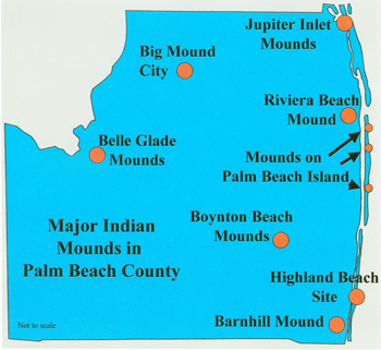 Map Of Palm Beach County Florida.Archaeology In Palm Beach County A Sampler