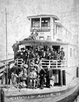 The steamer Astatula that plied the waters along the east coast of Florida