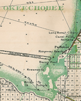 A 1923 map showing location of Bacom Point