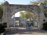 former Town of Golfview arch at Yesteryear Village, South Florida Fairgrounds, 2008