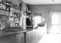 The inside of Lyman's store, ca. 1912