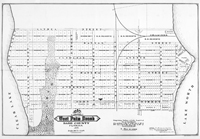 The map of the center of downtown West Palm Beach covering 48 blocks, 1893.