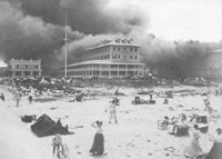 A View From The Beach Of Palm Inn Burning 1903 Courtesy Hspbc
